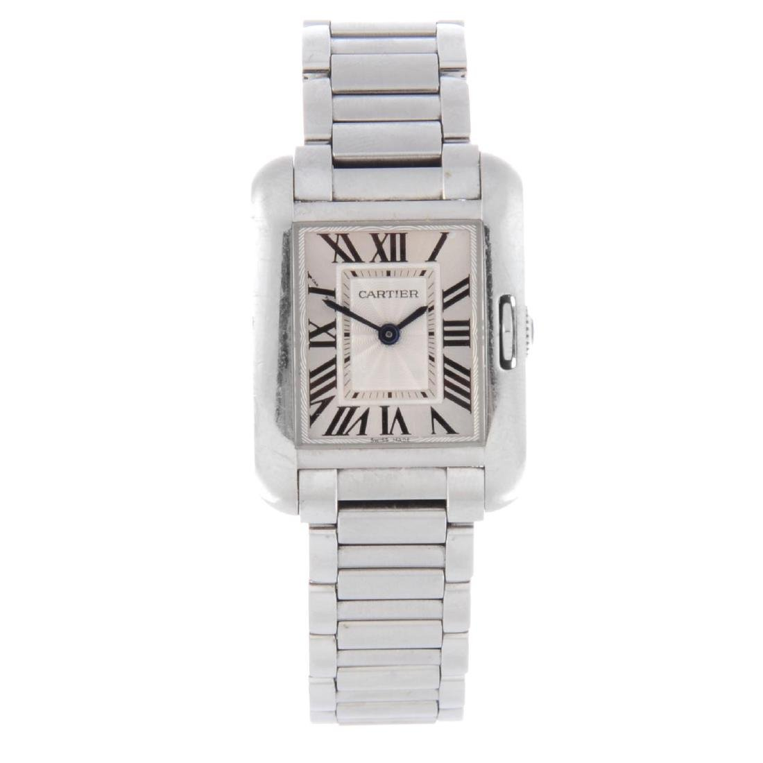 CARTIER - a Tank Anglaise bracelet watch. Stainless