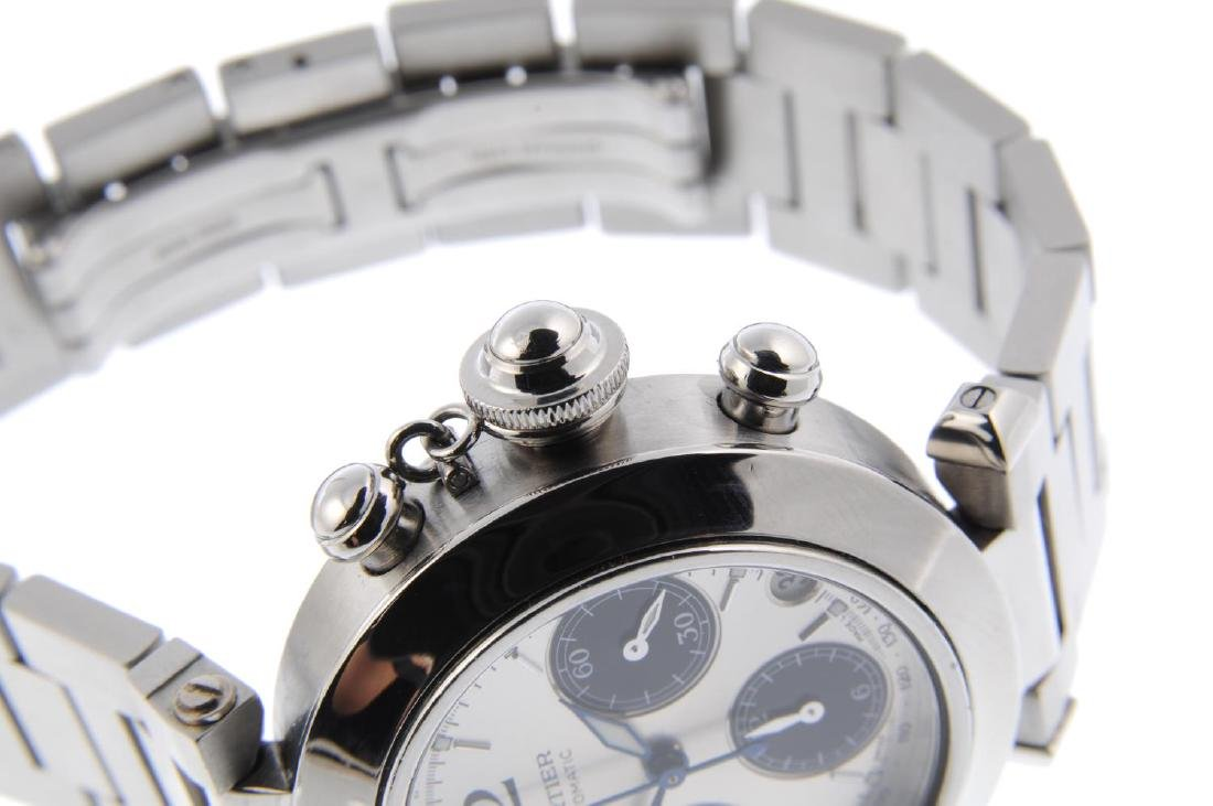 CARTIER - a Pasha chronograph bracelet watch. Stainless - 4