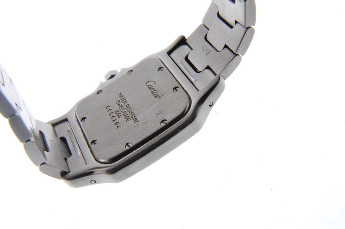 CARTIER - a Santos bracelet watch. Stainless steel case - 3