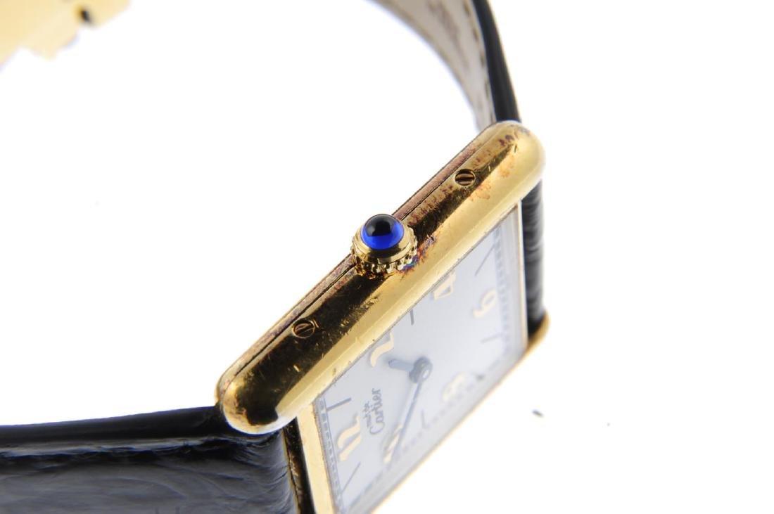 CARTIER - a Must de Cartier wrist watch. Gold plated - 4