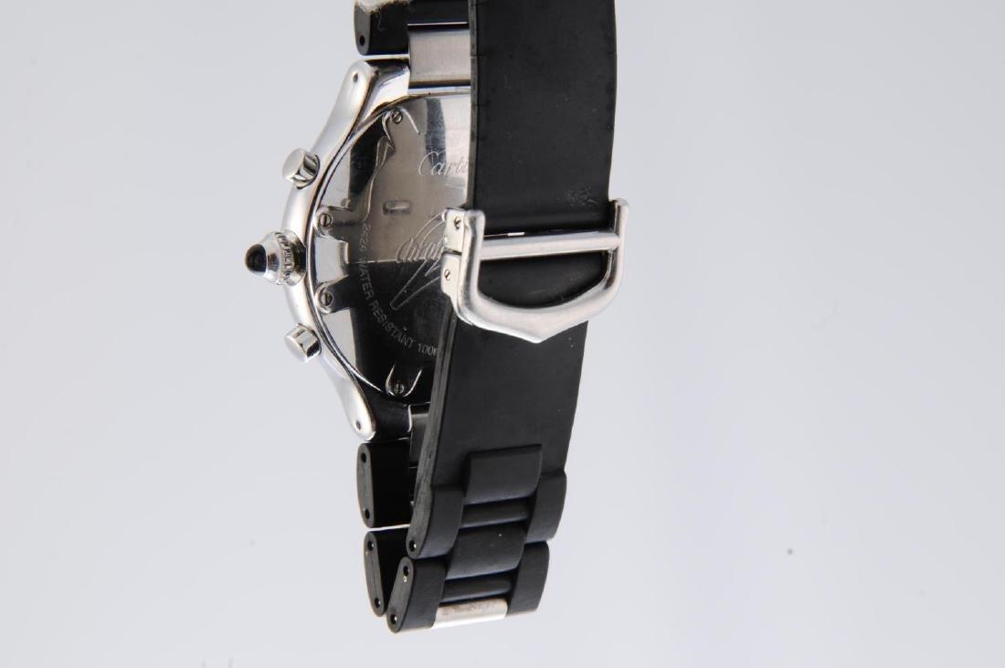 CARTIER - a Chronoscaph 21 chronograph wrist watch. - 4