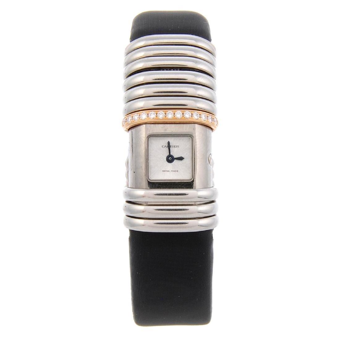 CARTIER - a Declaration wrist watch. Bi-material