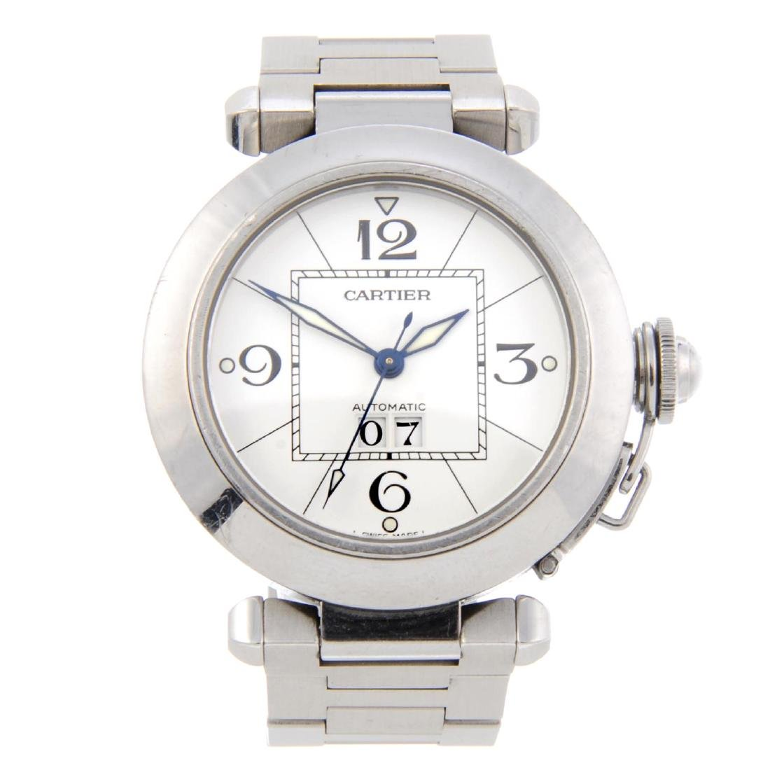 CARTIER - a Pasha bracelet watch. Stainless steel case.