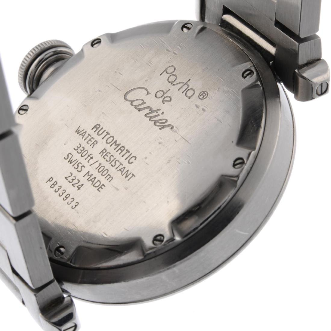 CARTIER - a Pasha bracelet watch. Stainless steel case. - 3