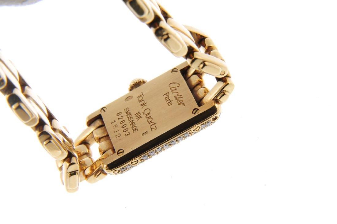 CARTIER - a Mini Tank bracelet watch. 18ct yellow gold - 3
