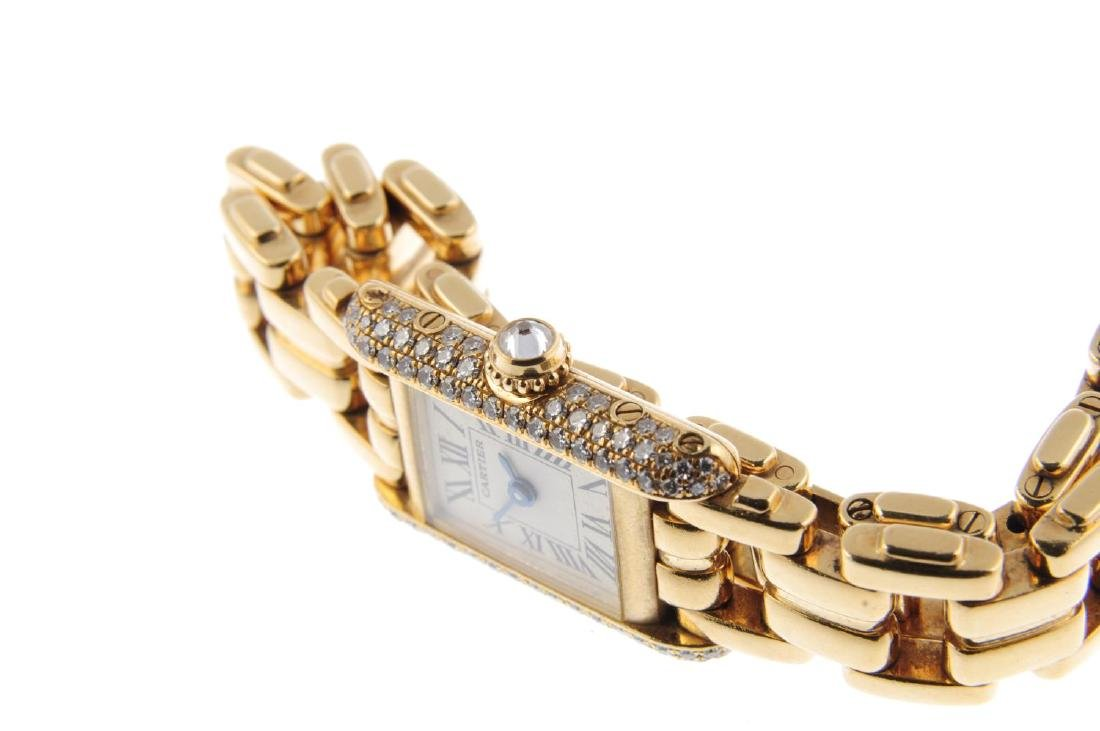 CARTIER - a Mini Tank bracelet watch. 18ct yellow gold - 4
