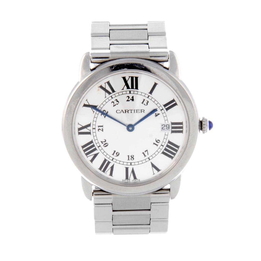 CARTIER - a Ronde Solo bracelet watch. Stainless steel