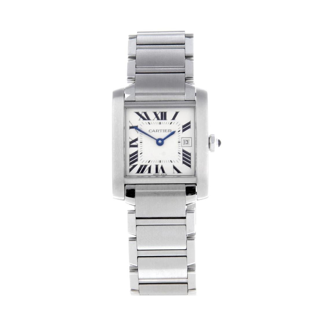 CARTIER - a Tank Francaise bracelet watch. Stainless
