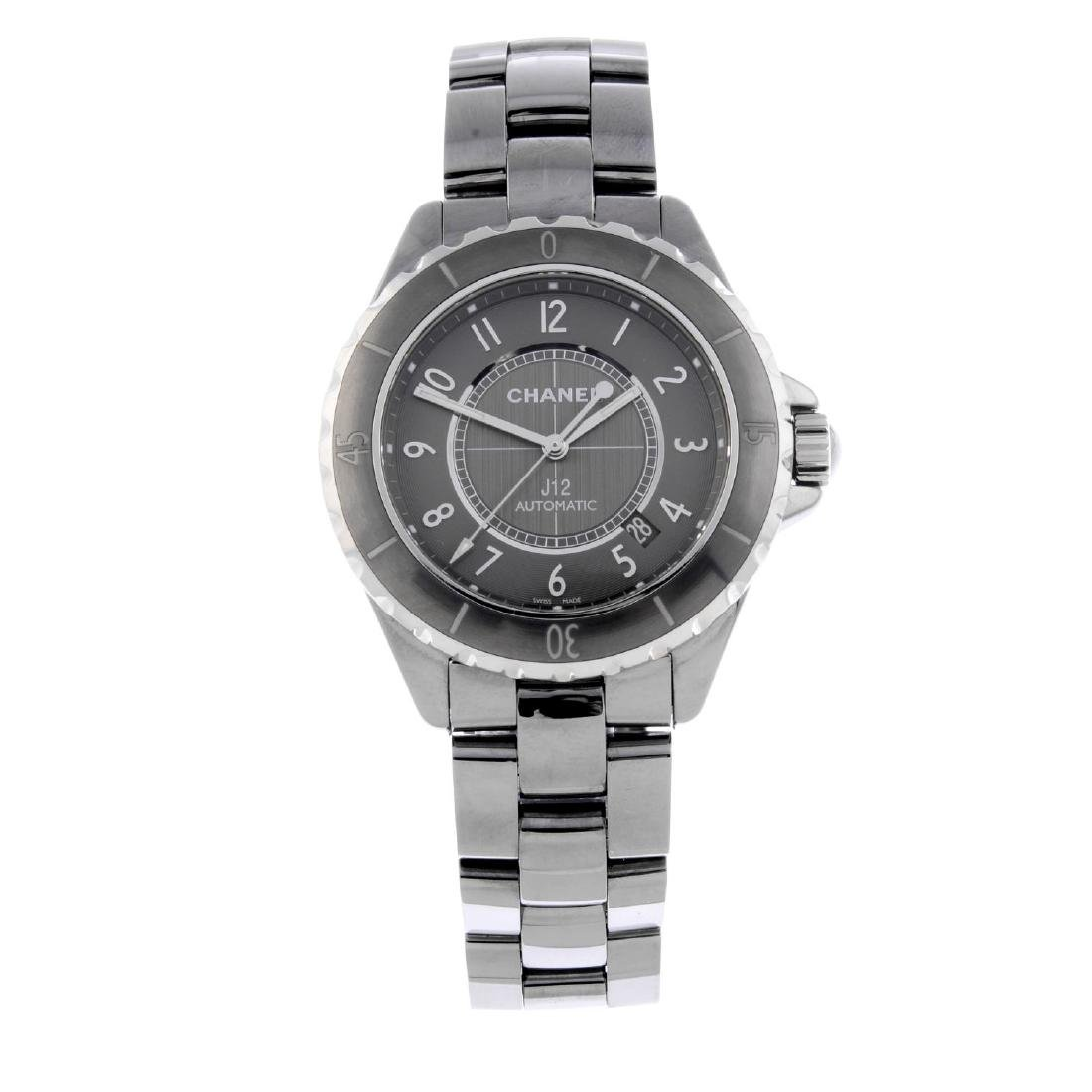 CHANEL - a J12 bracelet watch. Ceramic case with
