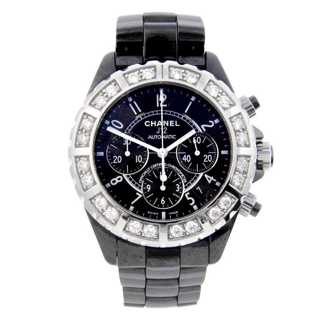 CHANEL - a gentleman's J12 chronograph bracelet watch.