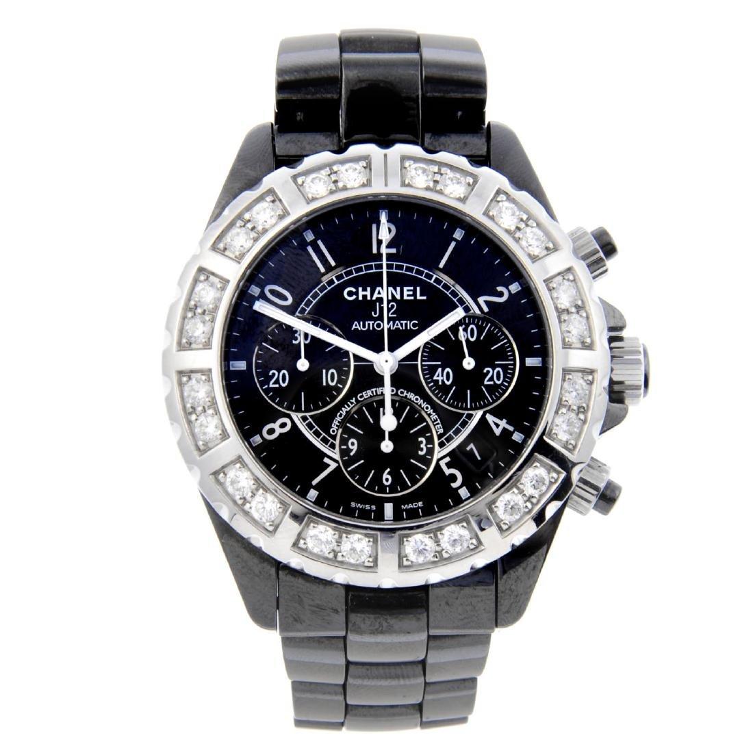 CHANEL - a gentleman's J12 chronograph bracelet watch.