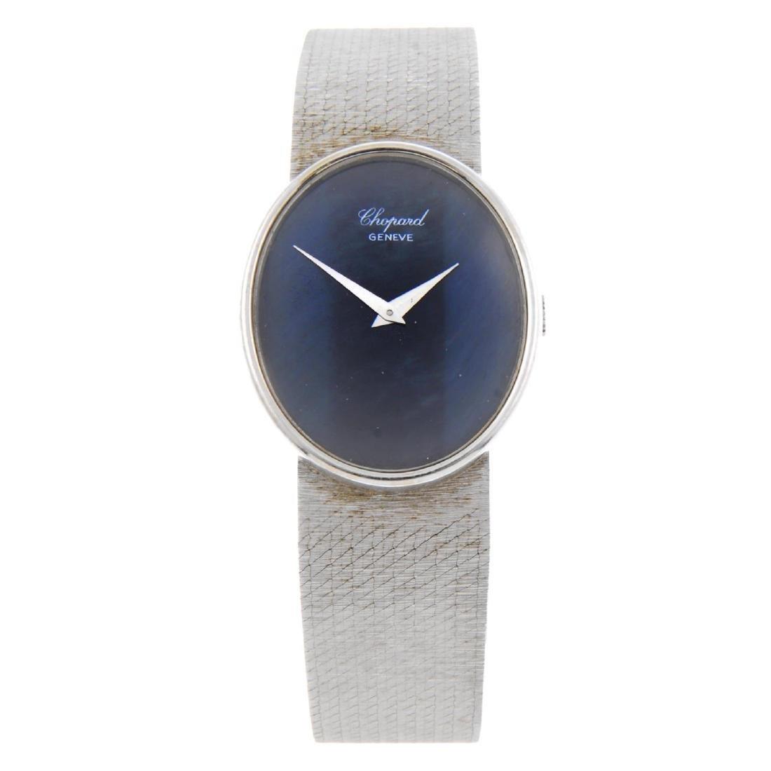 CHOPARD - a gentleman's bracelet watch. White metal