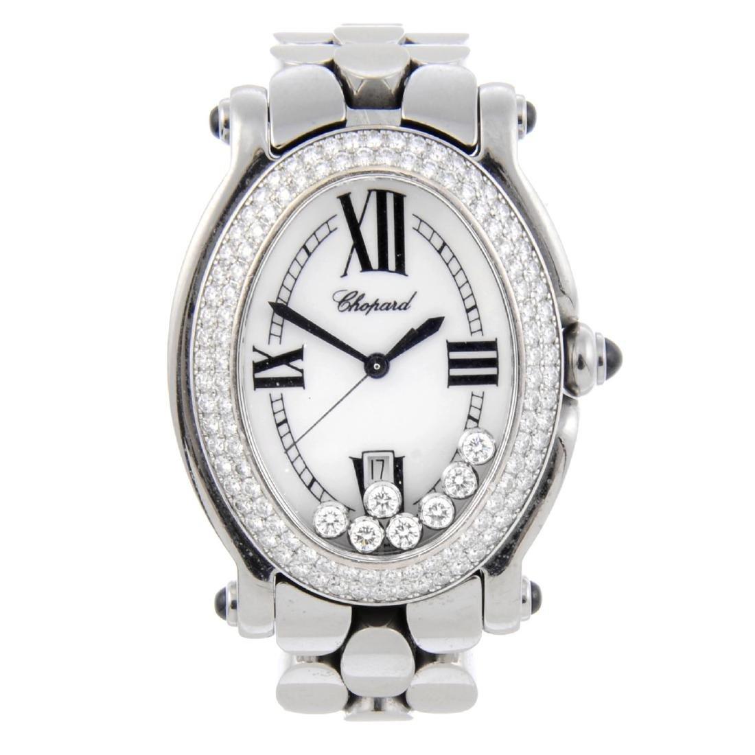 CHOPARD - a lady's Happy Sport bracelet watch.
