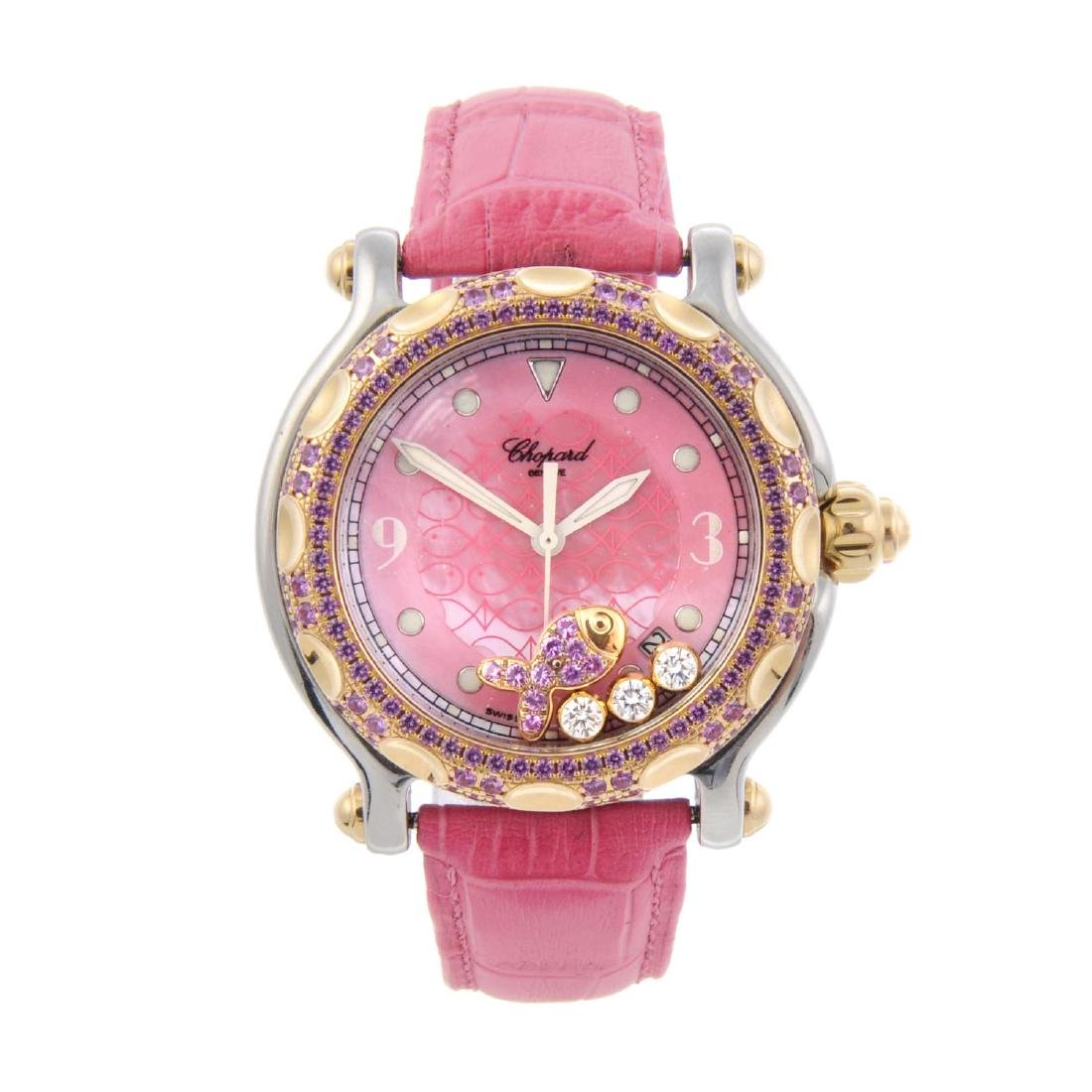 CHOPARD - a lady's Happy Sport wrist watch. Stainless