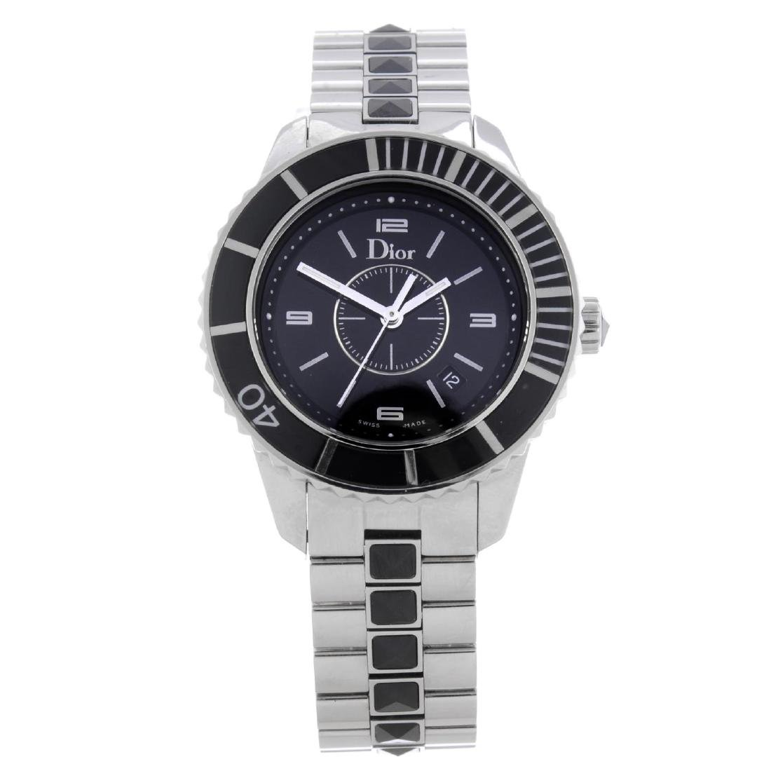 DIOR - a lady's Christal bracelet watch. Stainless