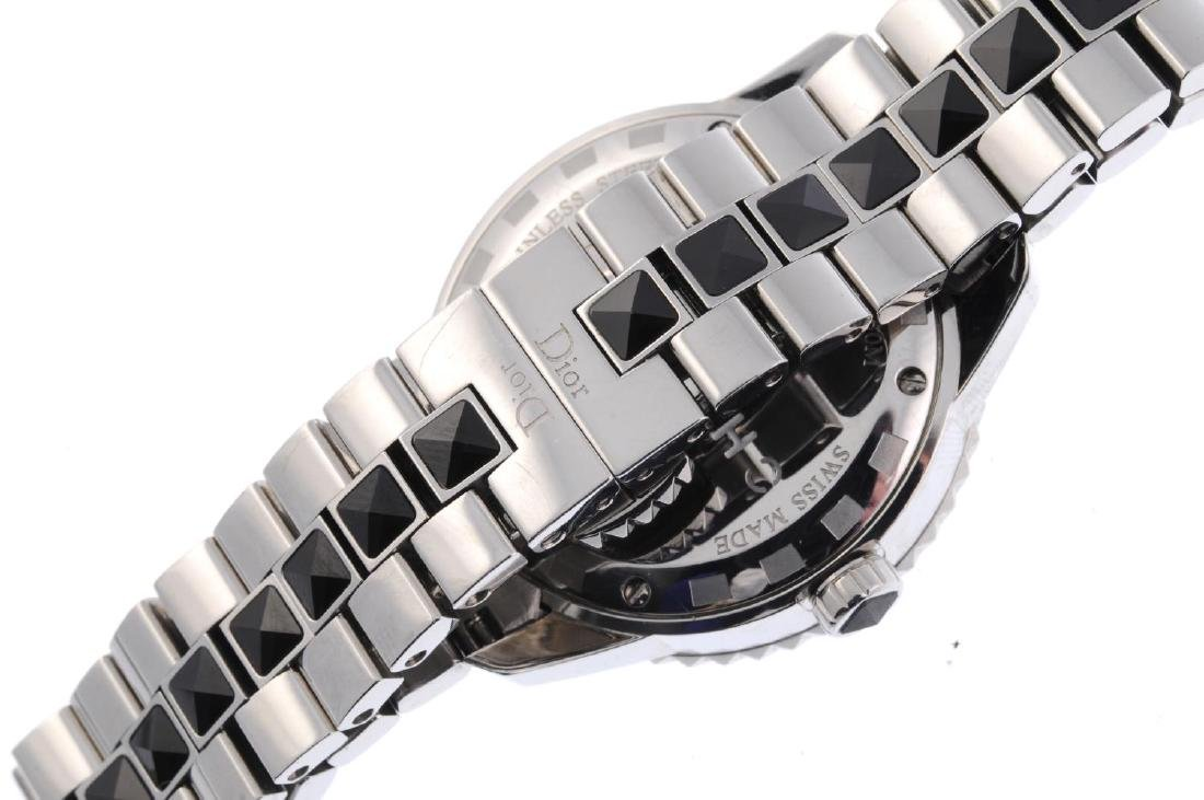 DIOR - a lady's Christal bracelet watch. Stainless - 2