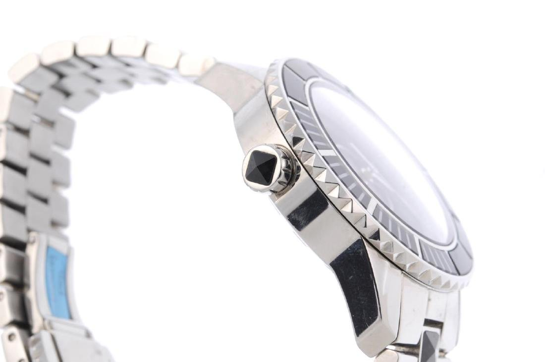 DIOR - a lady's Christal bracelet watch. Stainless - 3
