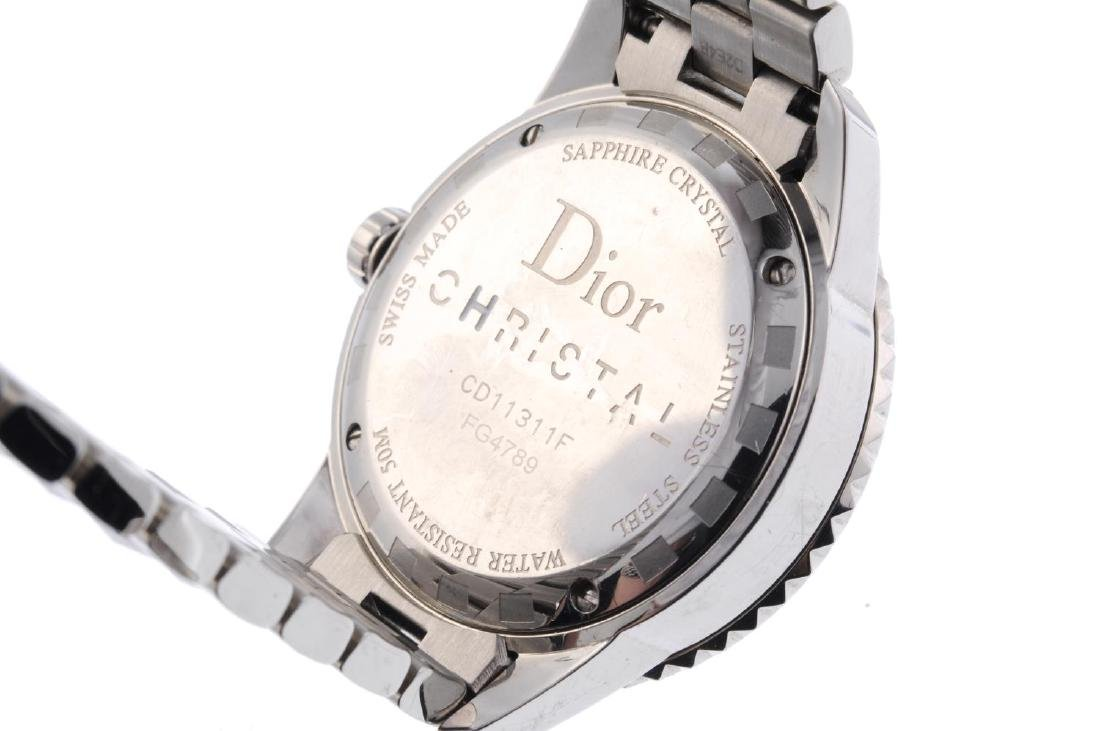 DIOR - a lady's Christal bracelet watch. Stainless - 4