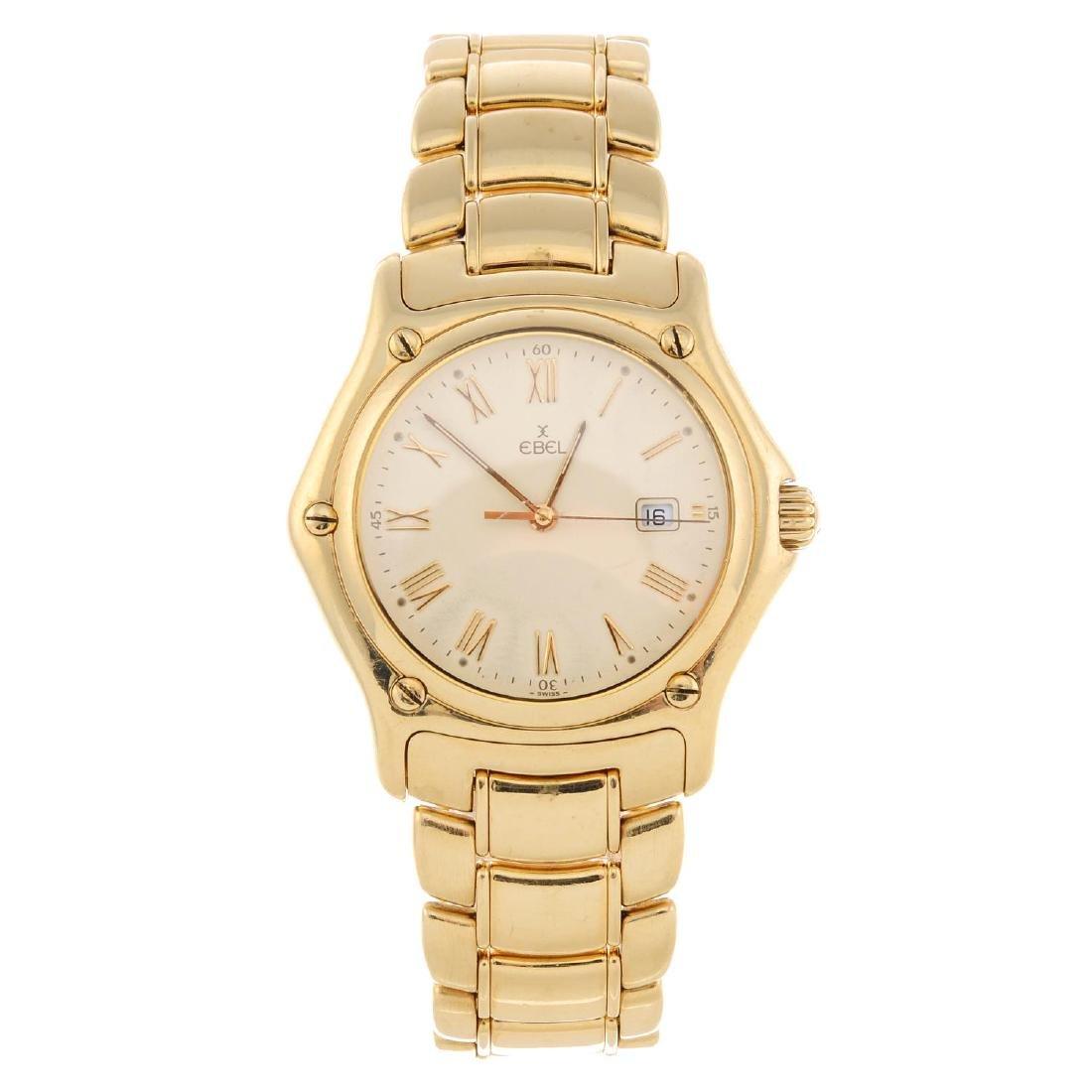 EBEL - a gentleman's Classic Sport bracelet watch. 18ct