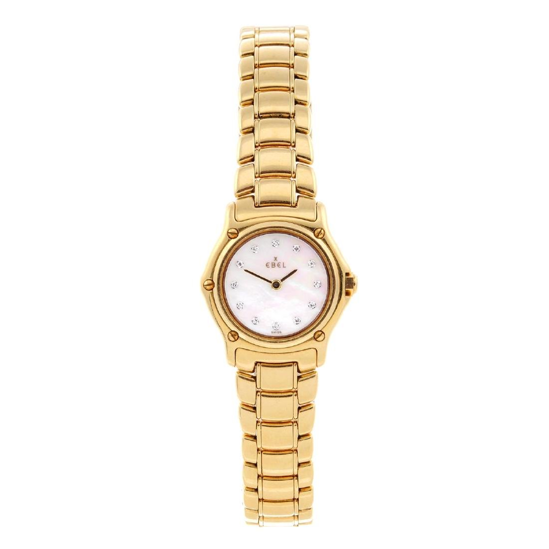 EBEL - a lady's Classic Sport bracelet watch. 18ct