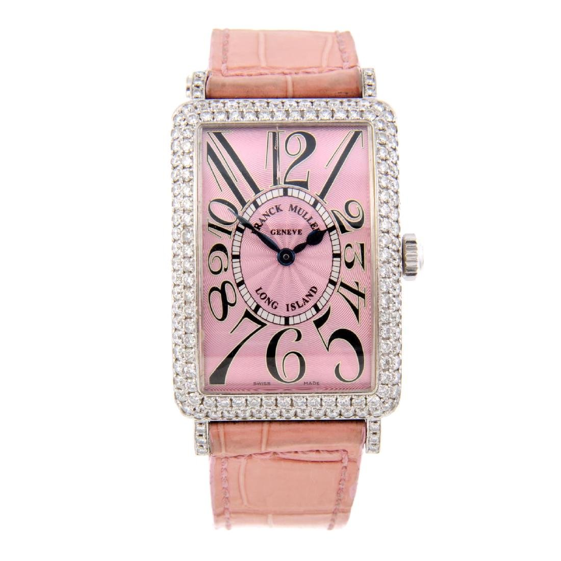 FRANCK MULLER - a lady's Long Island wrist watch. 18ct