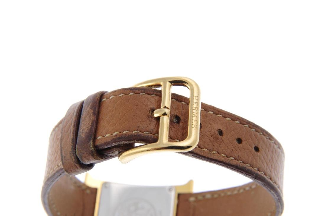 HERMÈS - a lady's Heure H wrist watch. Gold plated - 2