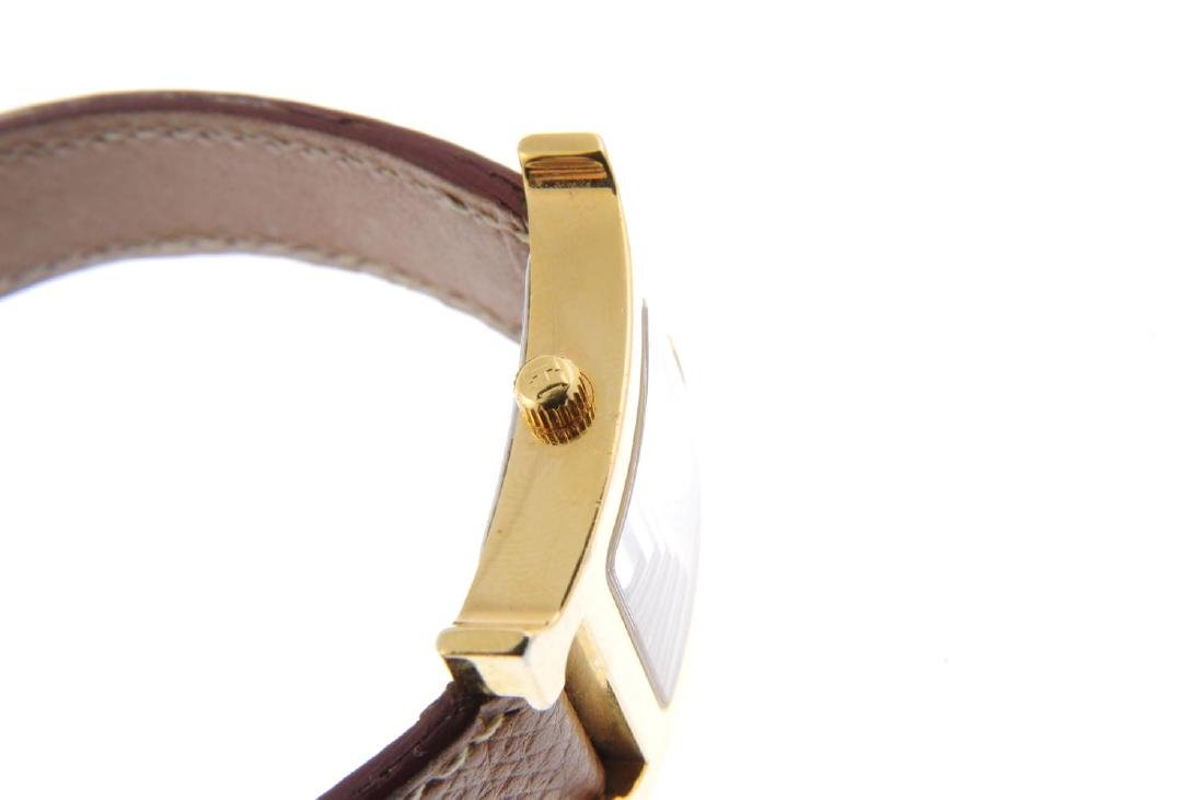 HERMÈS - a lady's Heure H wrist watch. Gold plated - 4