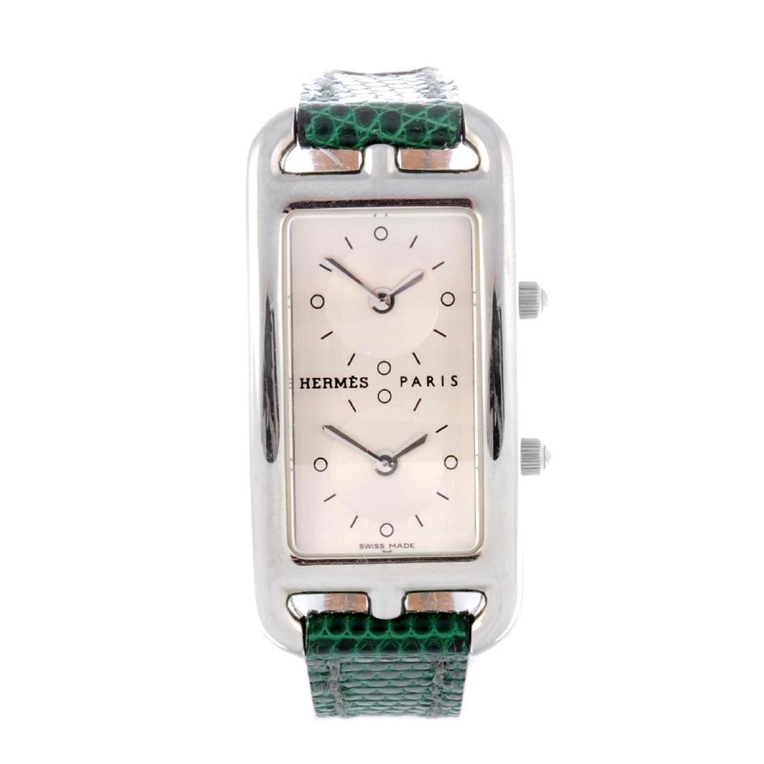 HERMÈS - a lady's Cape Cod Deux Zones wrist watch.