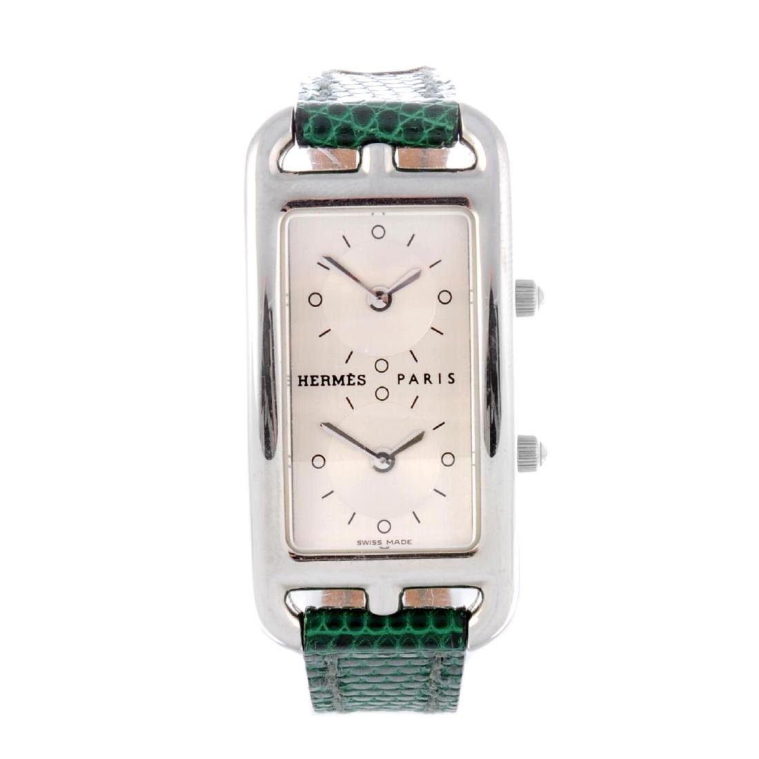 HERMÈS - a lady's Cape Cod Deux Zones wrist watch.