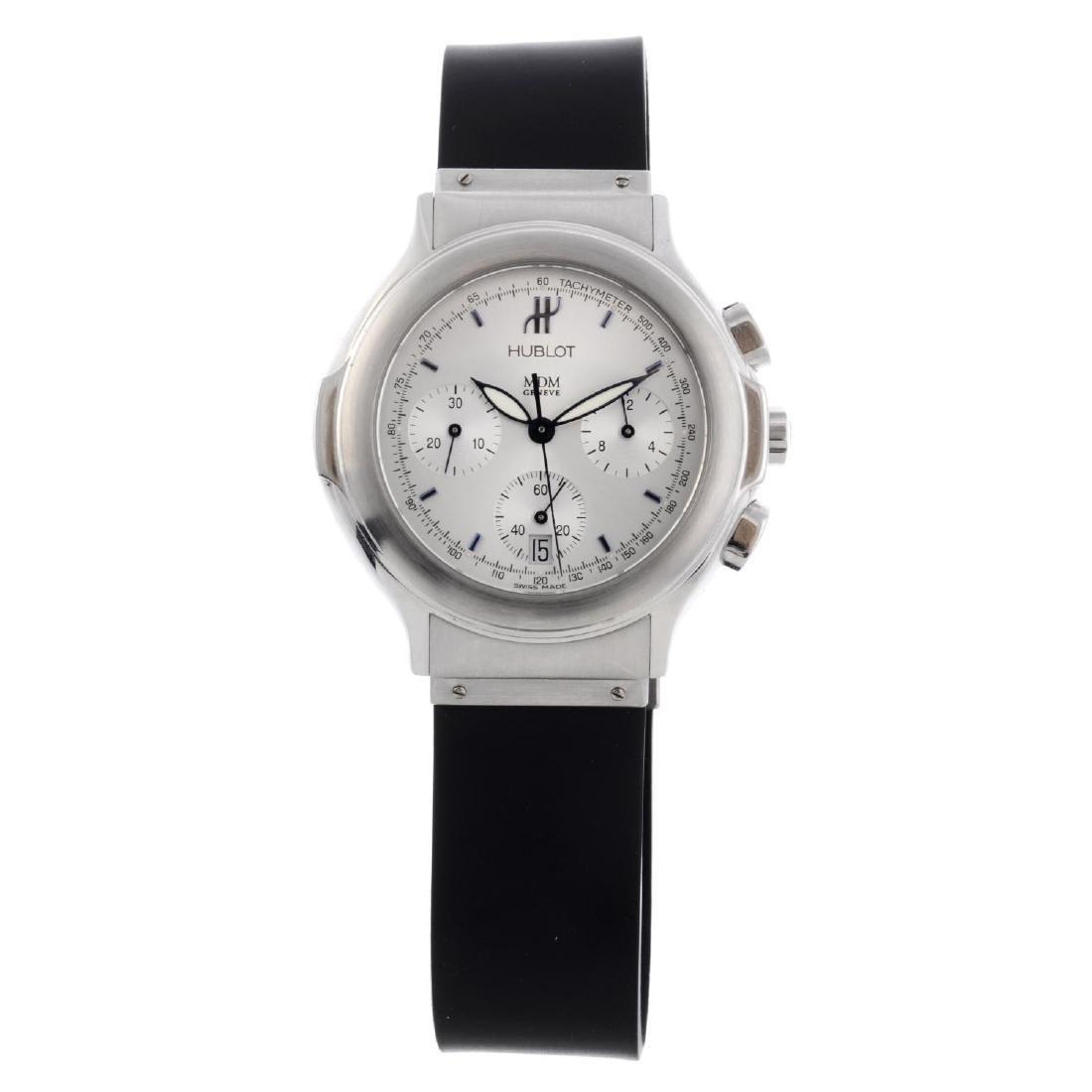 HUBLOT - a MDM chronograph wrist watch. Stainless steel