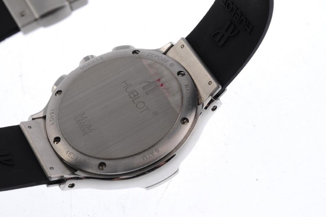 HUBLOT - a MDM chronograph wrist watch. Stainless steel - 3