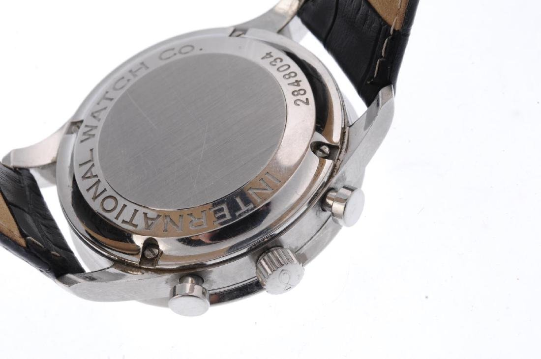 IWC - a gentleman's Portuguese chronograph wrist watch. - 3