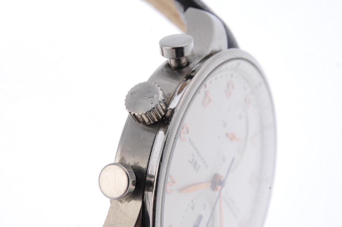 IWC - a gentleman's Portuguese chronograph wrist watch. - 4