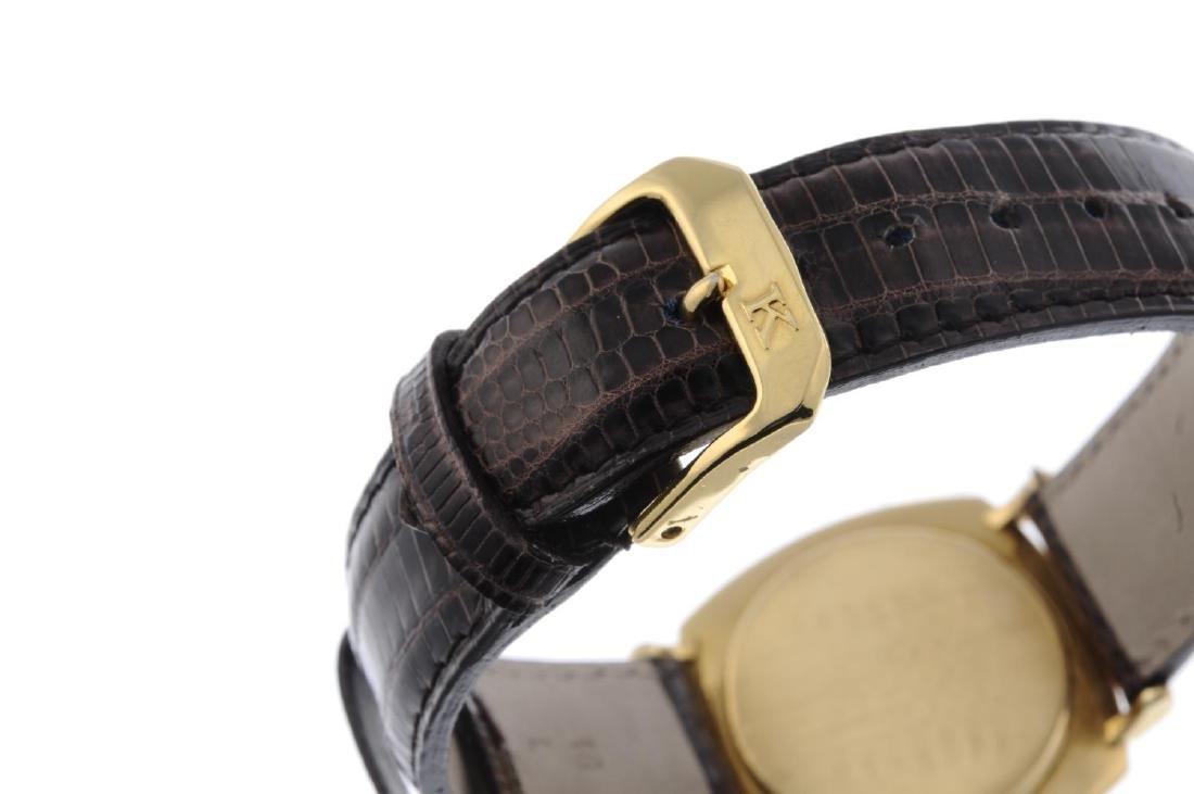 IWC - a gentleman's wrist watch. Yellow metal case, - 4
