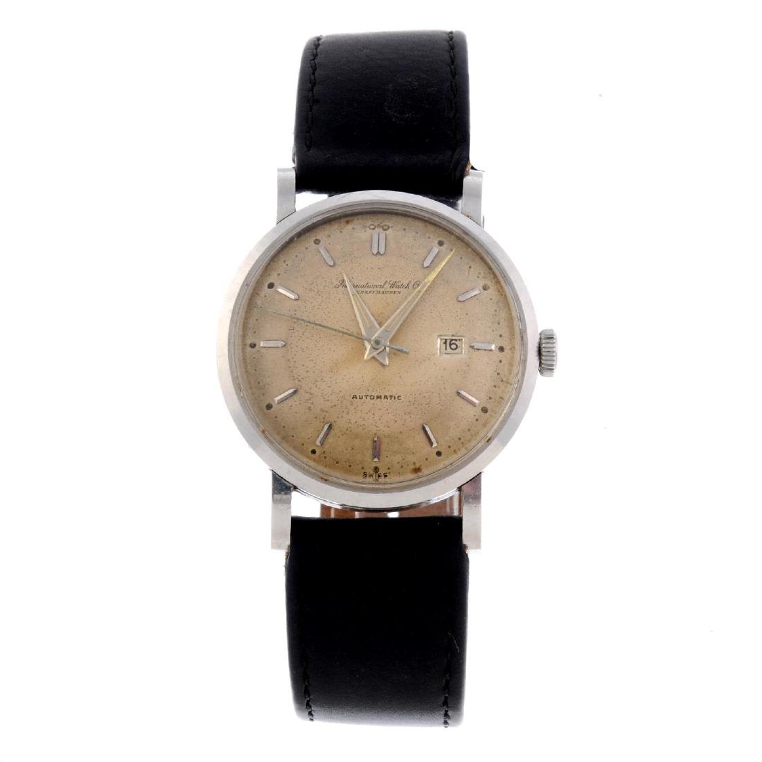 IWC - a gentleman's wrist watch. Stainless steel case.