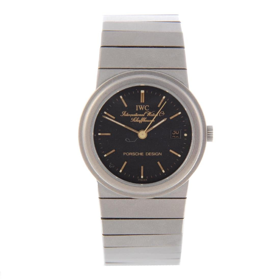 IWC - a lady's Porsche Design bracelet watch. Titanium