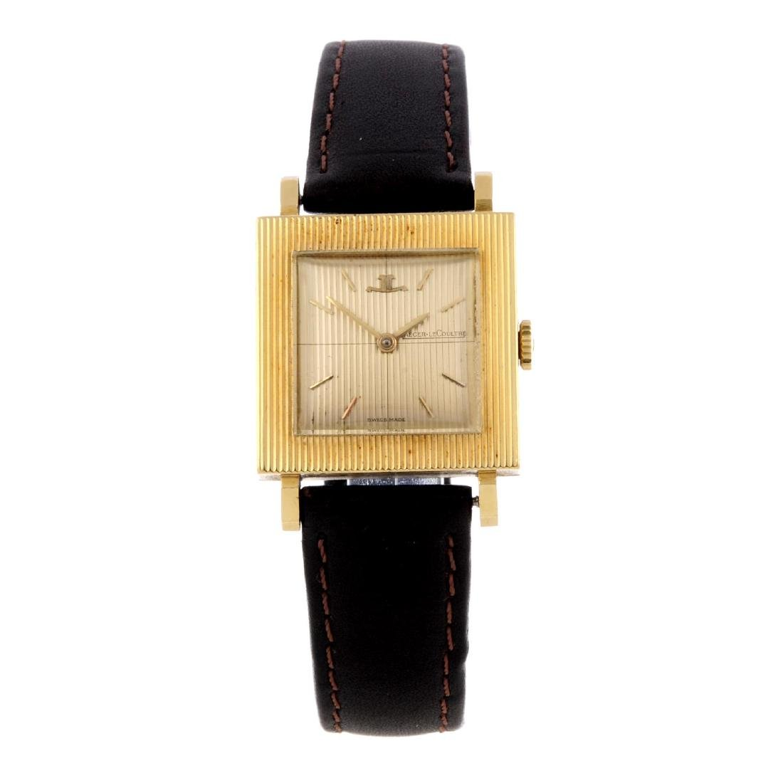 JAEGER-LECOULTRE - a wrist watch. Yellow metal case,