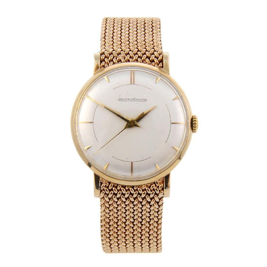 JAEGER-LECOULTRE - a gentleman's bracelet watch. 9ct