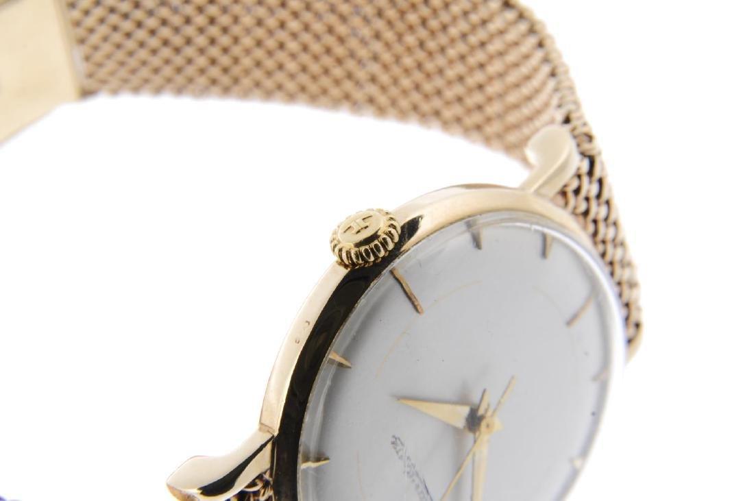 JAEGER-LECOULTRE - a gentleman's bracelet watch. 9ct - 4