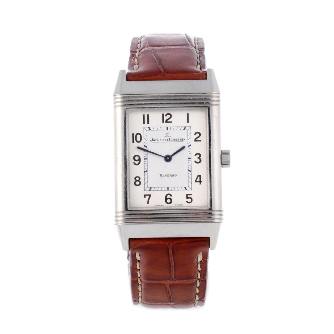 JAEGER-LECOULTRE - a mid-size Reverso wrist watch.