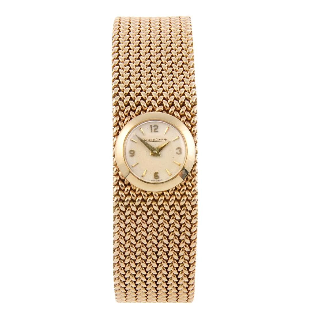 JAEGER-LECOULTRE - a lady's bracelet watch. 9ct yellow