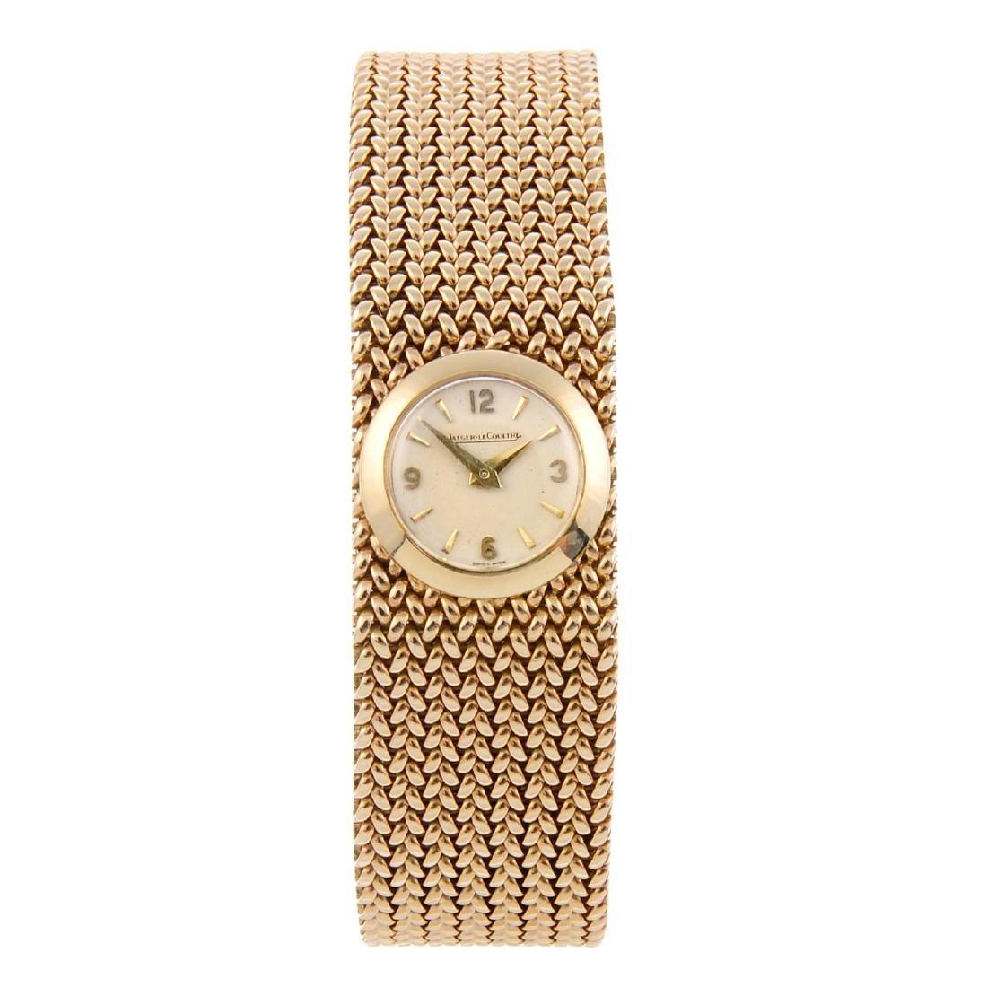 JAEGER-LECOULTRE - a lady's bracelet watch. 9ct yellow