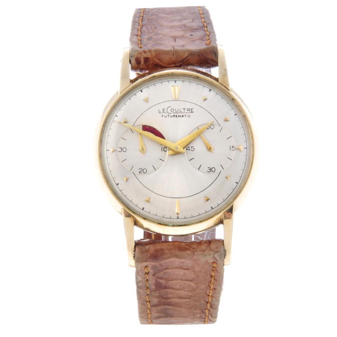 LECOULTRE - a gentleman's Futurematic wrist watch. Gold