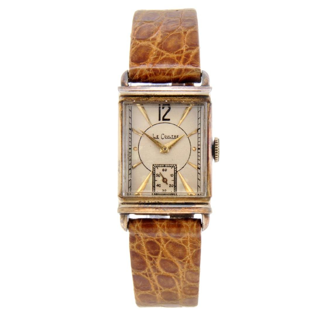 LECOULTRE - a wrist watch. Gold plated case with