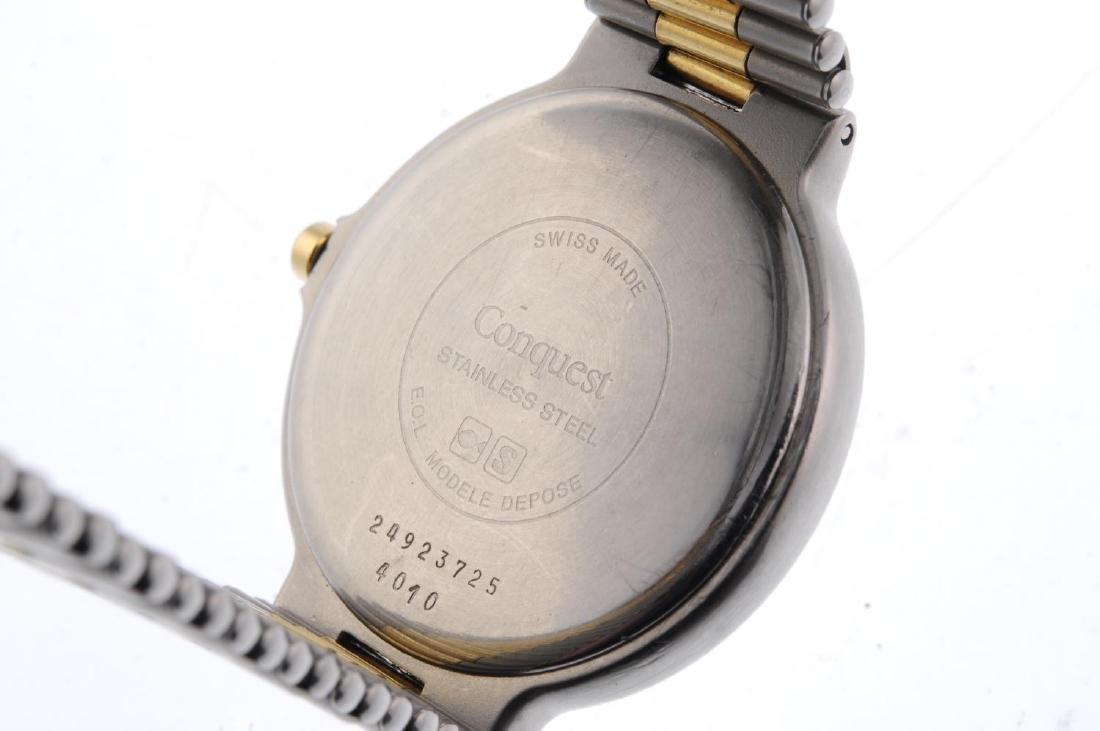 LONGINES - a gentleman's Conquest triple-date bracelet - 4