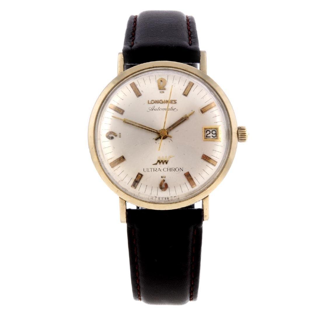 LONGINES - a gentleman's Ultra-Chron wrist watch. Gold