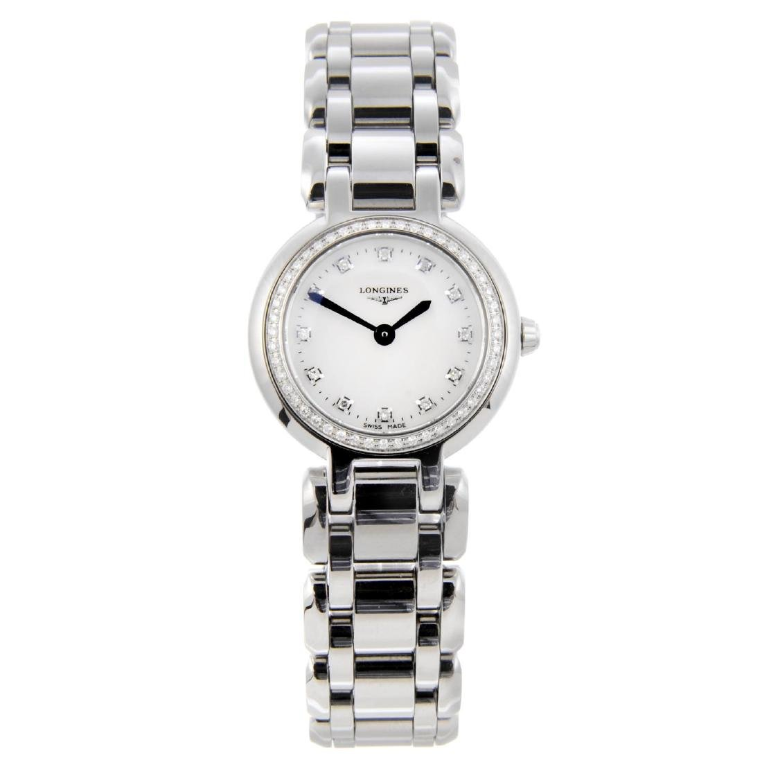LONGINES - a lady's PrimaLuna bracelet watch. Stainless