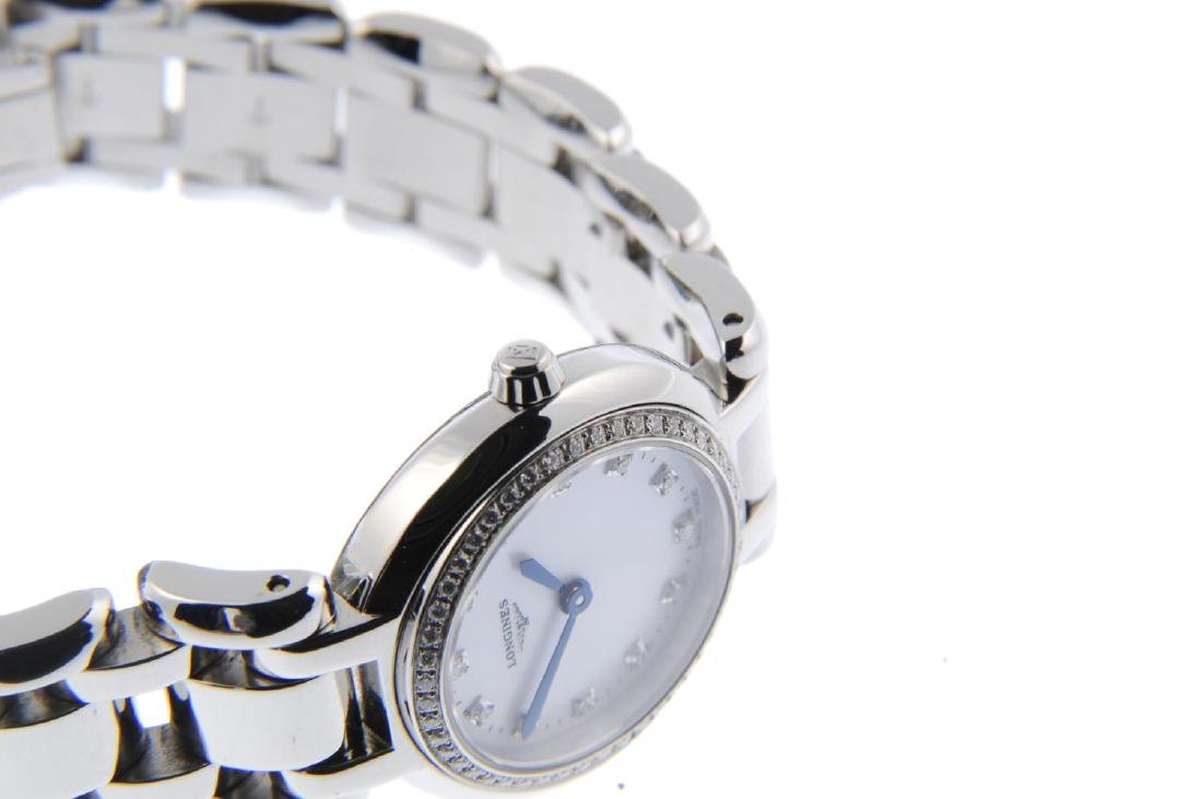 LONGINES - a lady's PrimaLuna bracelet watch. Stainless - 4