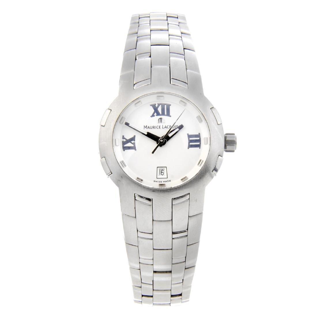 MAURICE LACROIX - a lady's Milestone bracelet watch.