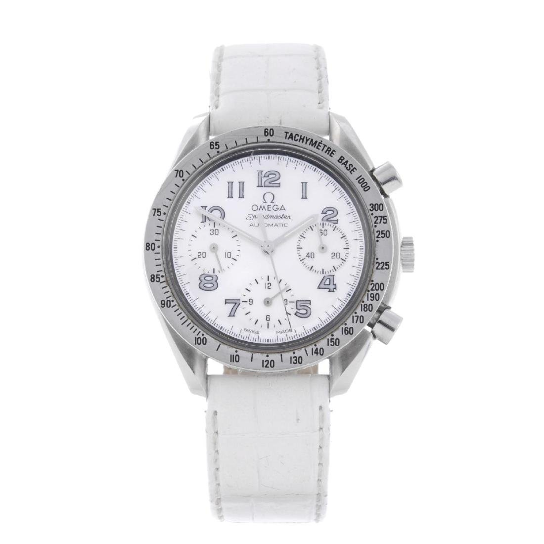 OMEGA - a lady's Speedmaster chronograph wrist watch.